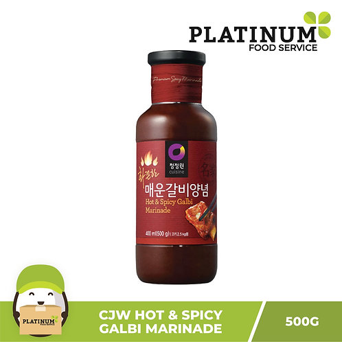 CJW Hot n Spicy Beef Galbi Marinade 500g