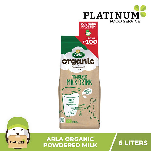 Arla Organic Powdered Milk 6L (800g)