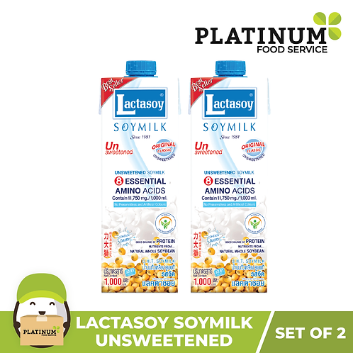 Lactasoy Soymilk - Unsweetened (pack of 2)