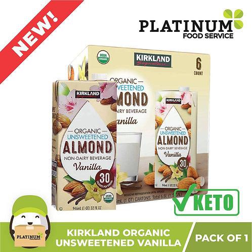 Kirkland Almond Milk Unsweetened Vanilla Flavor 946mL x 6