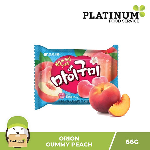 Orion Gummy Candy Peach 60g
