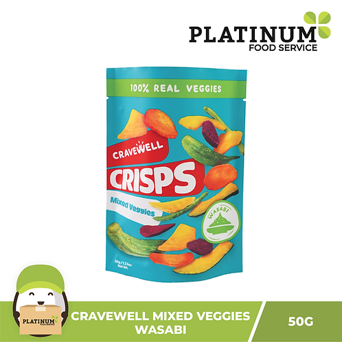 Cravewell Mixed Vegetable Crisps Wasabi 40g