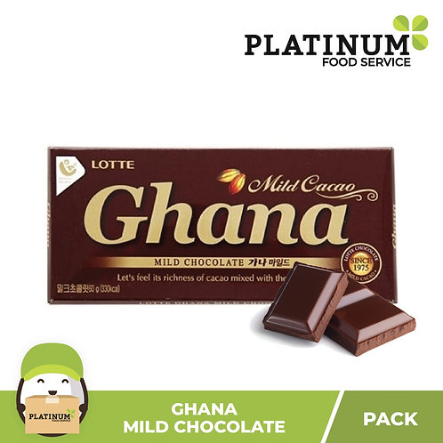 Lotte Ghana Mild Chocolate (Extra Cacao)  70g