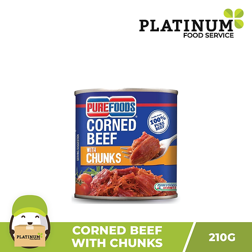 Purefoods Corned Beef with Chunks 210g