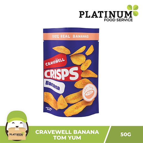 Cravewell Banana Chips Tom Yum 45g
