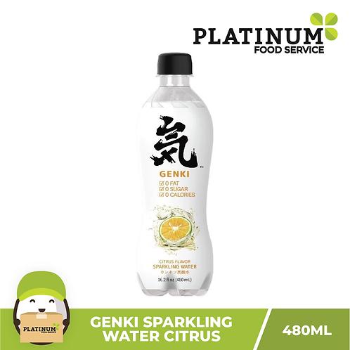 Genki Sparkling Water Citrus Flavor 480mL