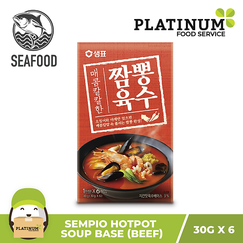 Sempio Spicy Seafood Hotpot Soup Base (30g x 6)