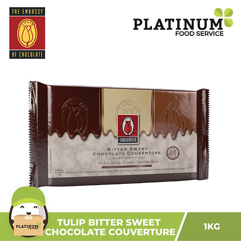 Tulip Bittersweet Chocolate Couverture 1 kg