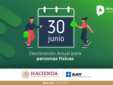 SAT, alarga fecha hasta el 30 de junio  para que personas físicas presenten su declaración