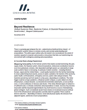 Beyond Resilience - GGI document