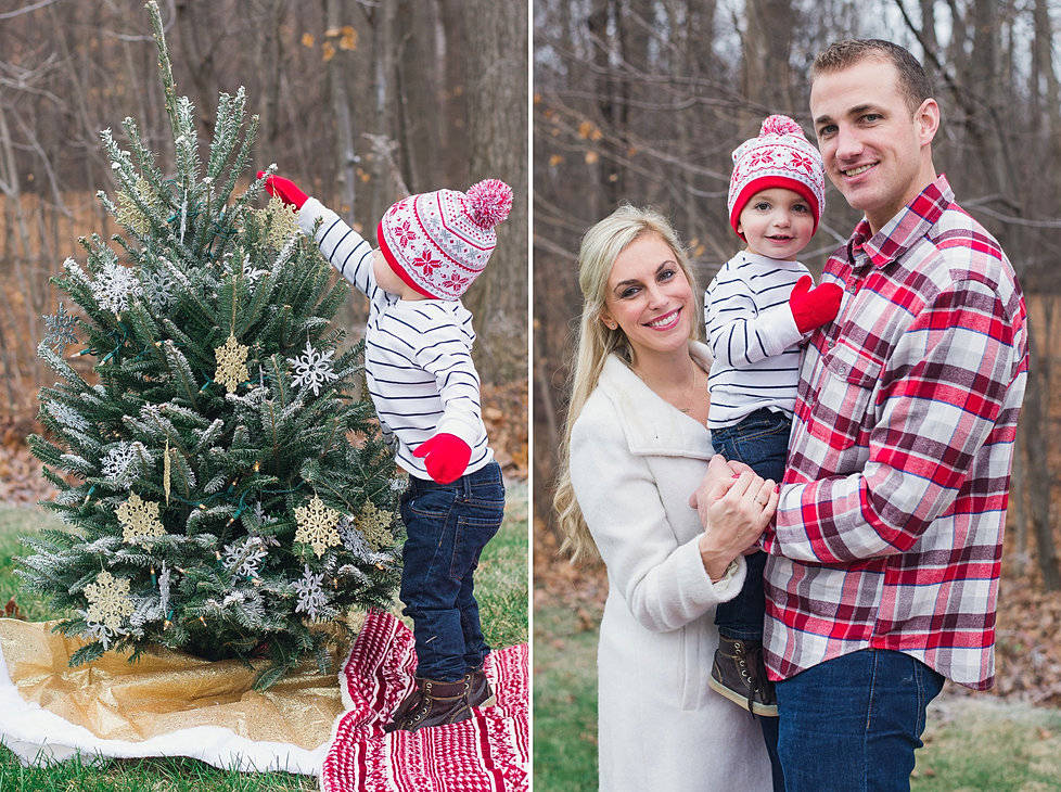 Northville Michigan Family Christmas Holiday Card Photographer 1