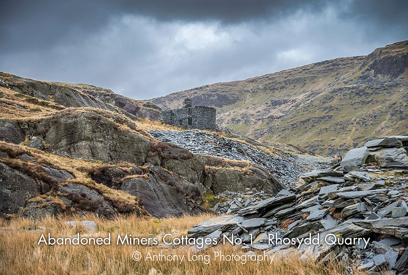 Abandoned Miners Cottages No.1, Rhosydd Slate Quarry, North Wales