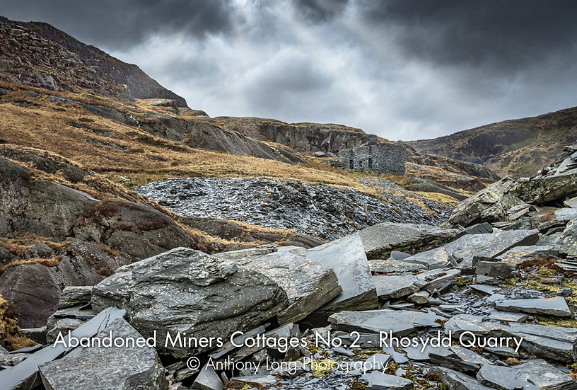 Abandoned Miners Cottages No.2, Rhosydd Slate Quarry, North Wales