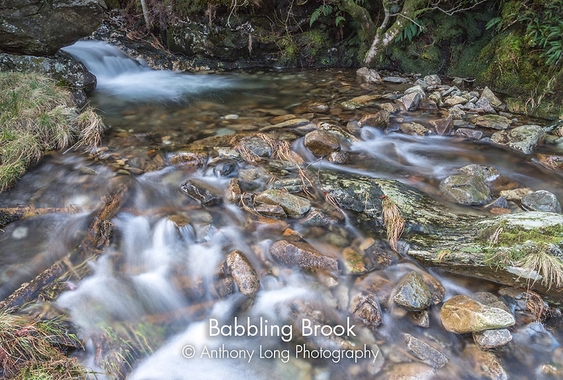 Babbling Brook near pont Pen-y-benglog, North Wales