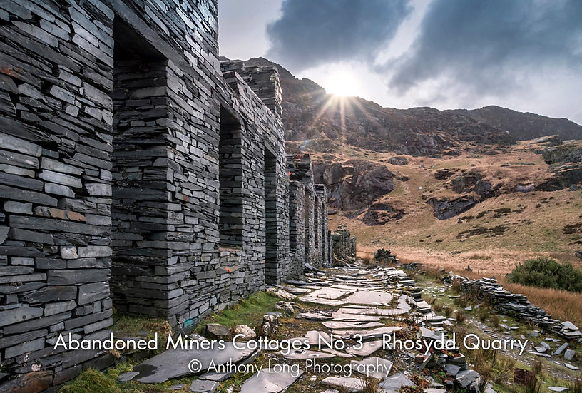 Abandoned Miners Cottages No.3, Rhosydd Slate Quarry, North Wales