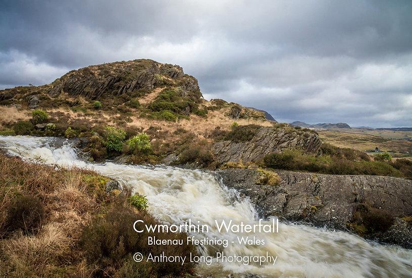 Cwmorthin Waterfall near Blaenau Ffestiniog North Wales