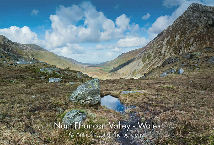 Nant Ffrancon Valley near Ogwen Falls, North Wales