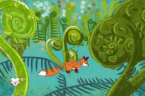 Fox in the Fiddleheads