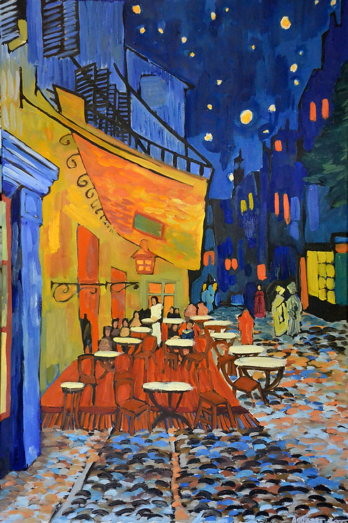 Cafe Terrace at night REPRO