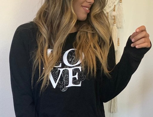 Love over Ganesh Raglan Long Sleeve Top