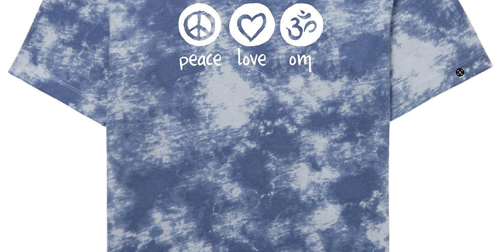Peace Love OM Unisex Tie Dye SS T