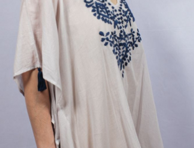 100% Cotton Embroidered Tunic Top