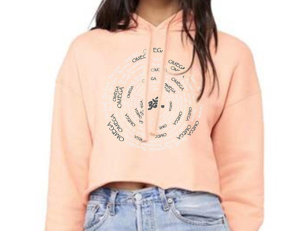 Omega Spiral Peach Crop Fleece Hoodie