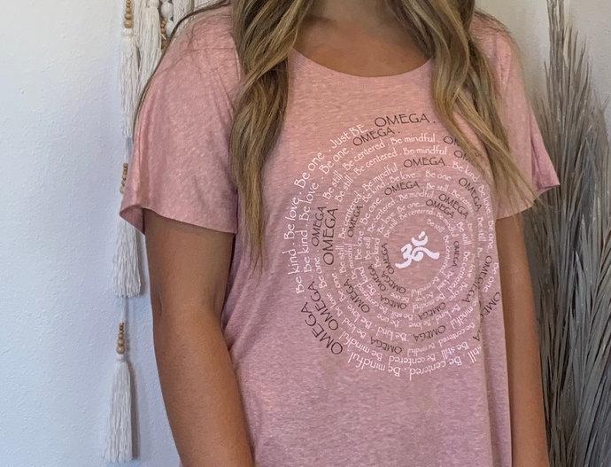 Omega Spiral Desert Pink Dolman SS Tee