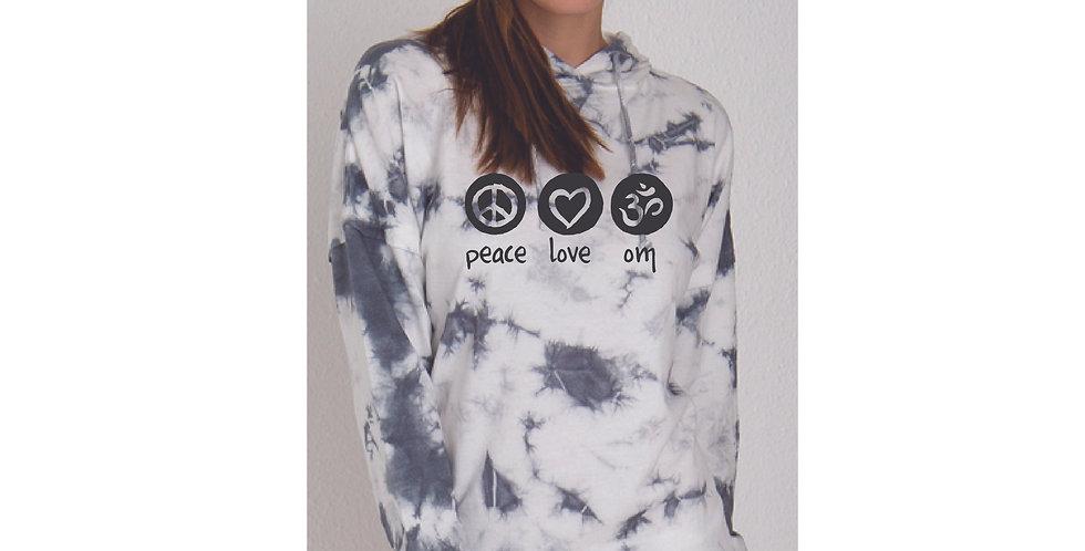Peace Love OM Tie Dye Hoodie