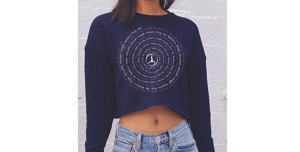 Inspire Spiral Crop Fleece Crew