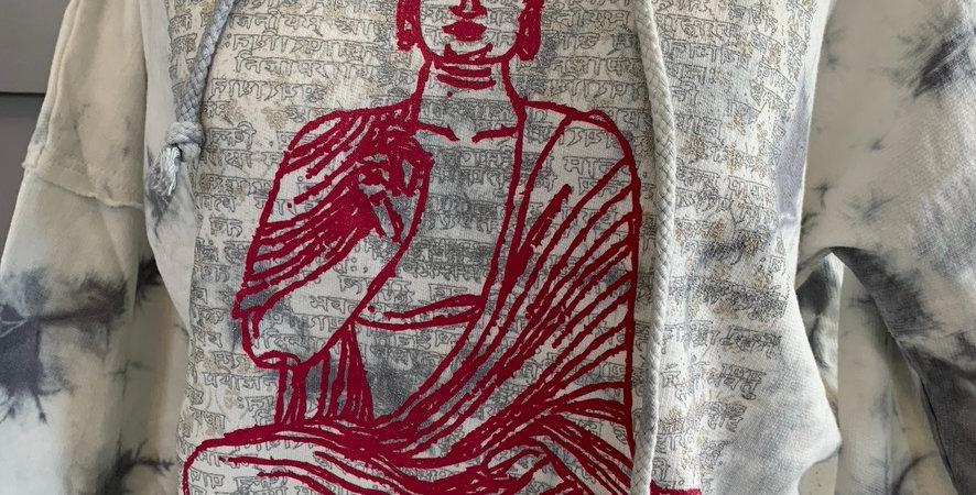 Vintage Buddha Tie Dye Hoodie