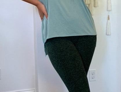 Forest Green Space Dye Full Length Legging