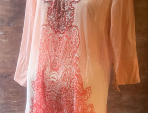 Embroidered Flowy Tunic
