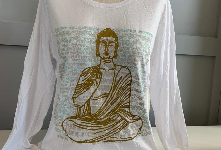Vintage Buddha Long Sleeve Tee