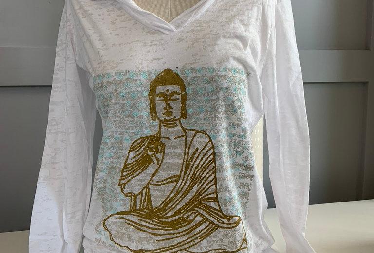 Vintage Buddha Burnout Hoodie