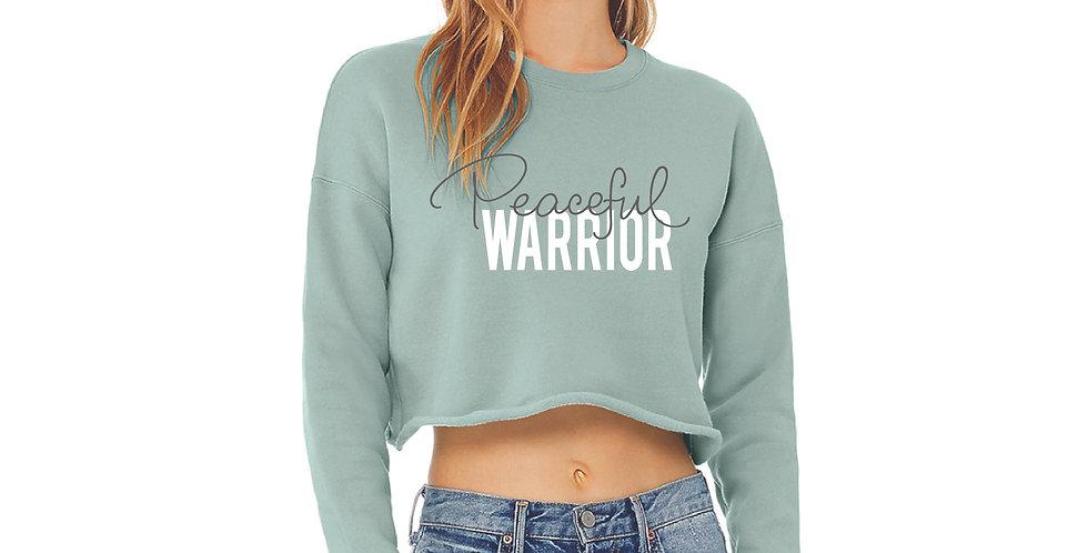 Peaceful Warrior Crop Fleece Crew
