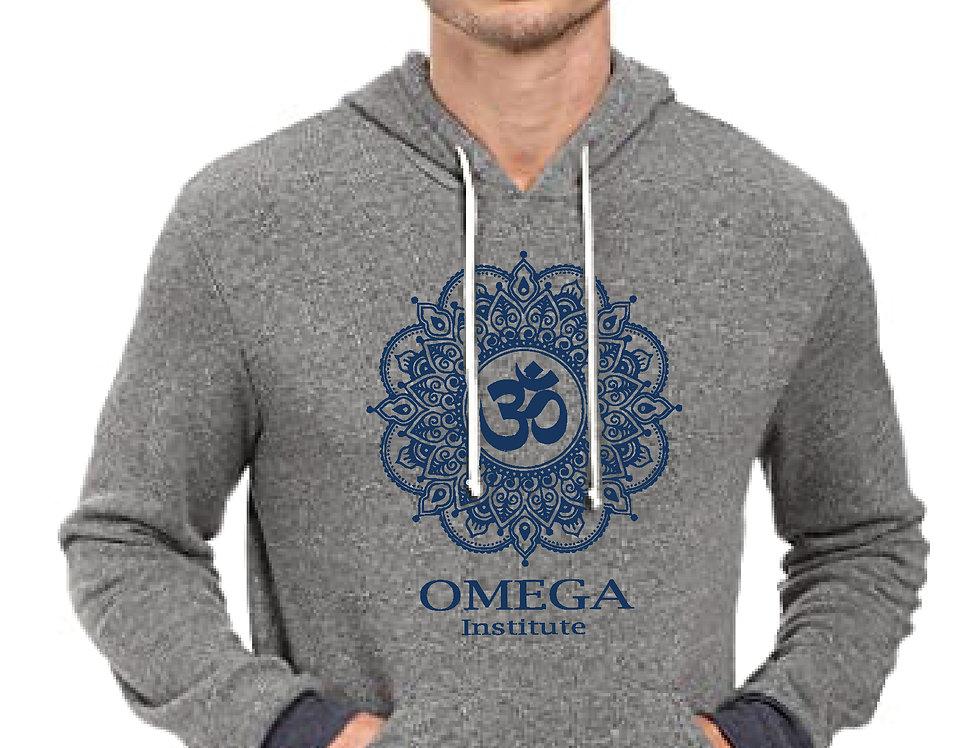 Omega Soul Mandala Grey/Navy Eco Fleece Hoodie
