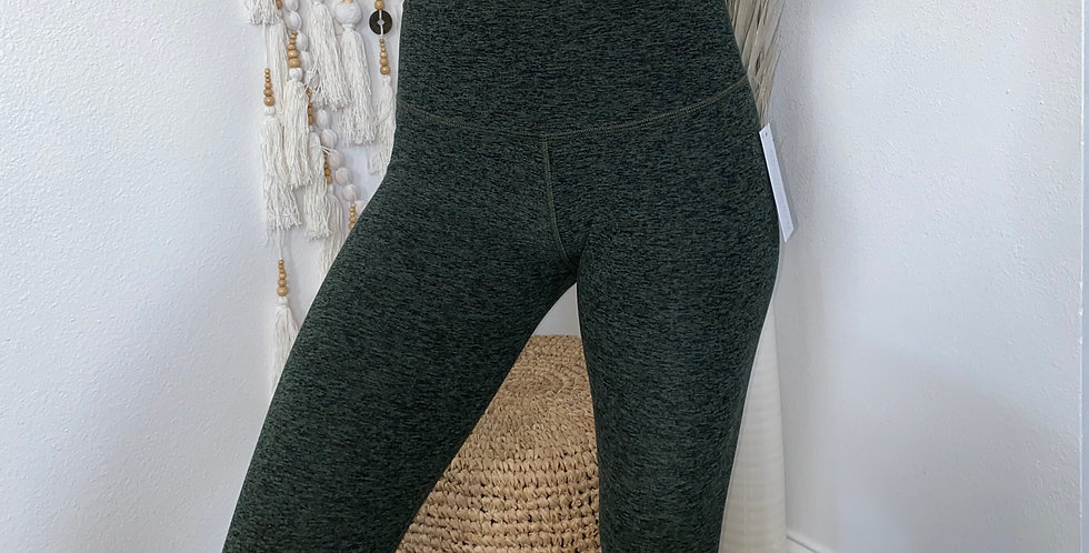 Forest Green Space Dye 7/8 Legging
