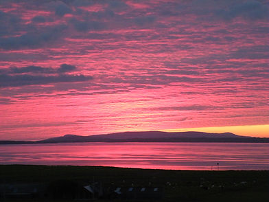 Midsummer sunset Orkney