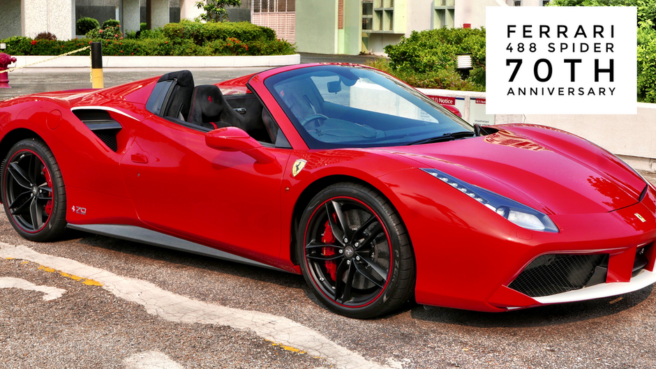 Ferrari 488 Spider 70th   $3.6M HKD (Unregistered)