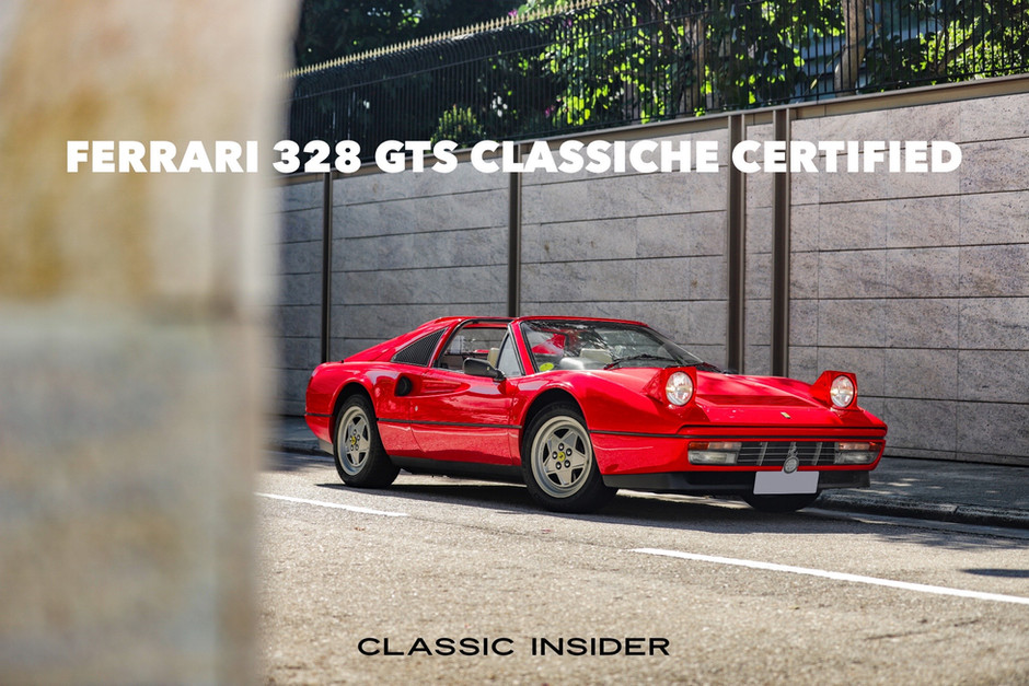 Ferrari 328 GTS Classiche Certified < 5000 Miles   $1.18M HKD (Unregistered)