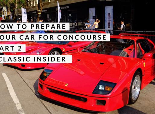 如何為老爺車選美作準備 Part 2 | How to prepare your car for Concourse
