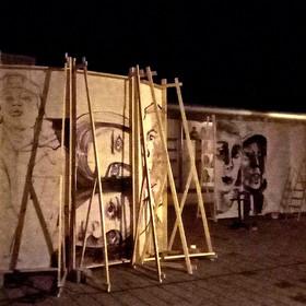 Performance de peinture in situ