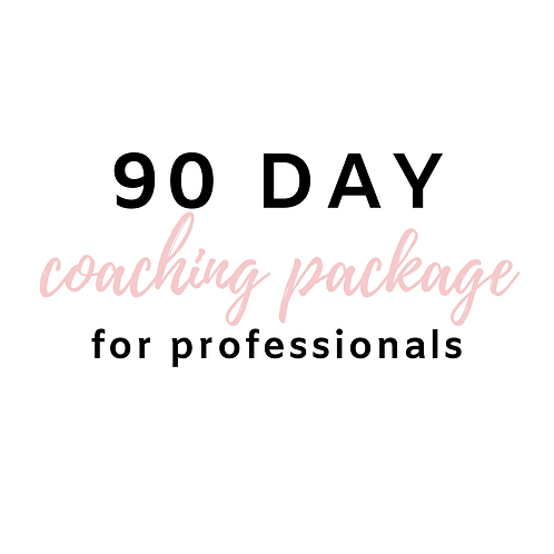 90 Day Program for Professionals