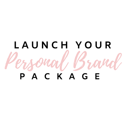 Launch Your Personal Brand Package (with Website)