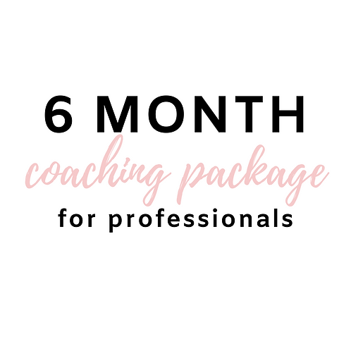 6 Month Program for Professionals