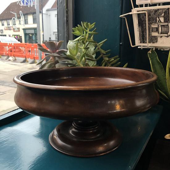 Vintage 1930s Wooden Fruit Bowl