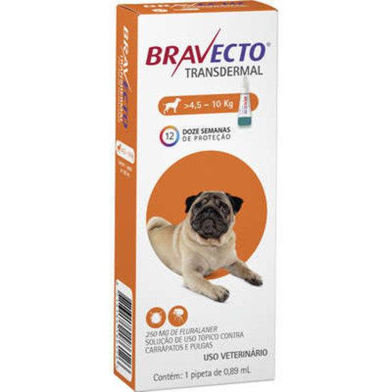 Antipulgas Bravecto Transdermal 112,5mg Cães 4,5kg à 10kg