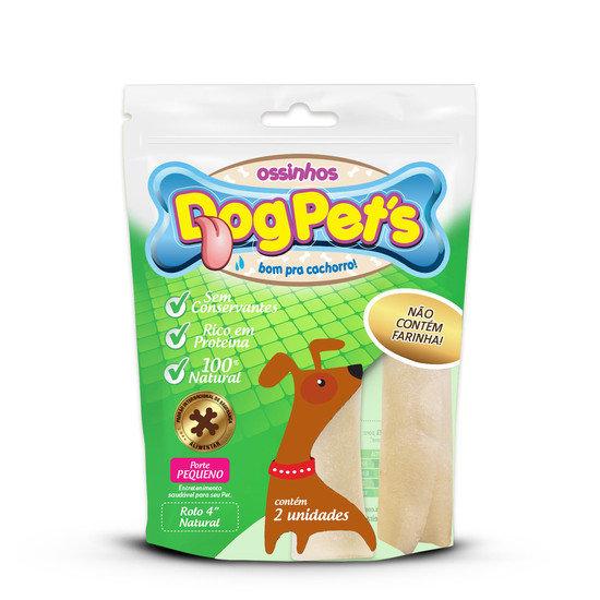 Ossinhos DogPets Rolo Natural 9cm Cães Pequeno Porte
