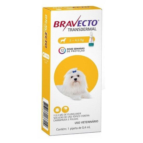 Antipulgas Bravecto Transdermal 112,5mg Cães 2 a 4,5kg